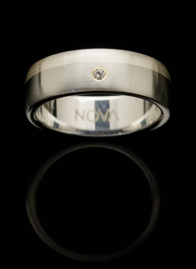stainless steel diamond ring rs5silredia