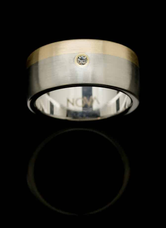 stainless steel gold diamond ring rs5ylgredia