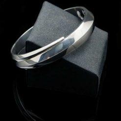 Sterling Silver 925 Spiral Bracelet (BR56)