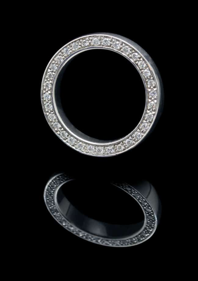 18K White Gold Rings with 0.51ct Diamond (GR81)