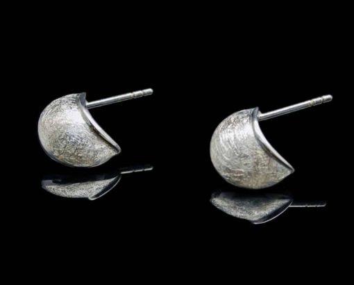 Sterling Silver Earrings Brushed Finish (ER91)