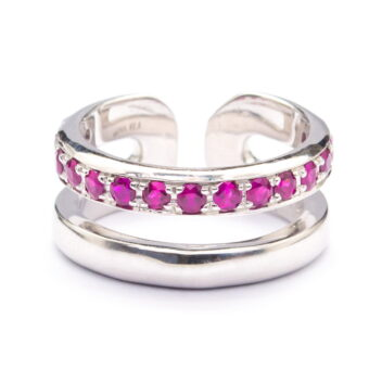 Ruby Setting Sterling Silver Ring (R192)