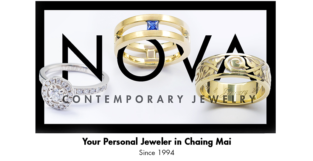 Nova Contemporary Jewelry Banner, Your Personal Jeweler in Chiang Mai Since 1994