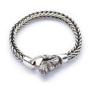 Sterling Silver Naga Design Bracelet (BR121M)