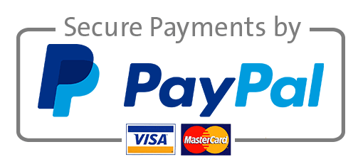 Secure payments by Paypal (Visa and Mastercard)